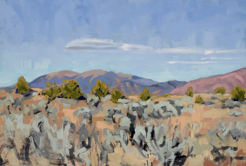 Oil painting Taos Plateau  by Shawn Demarest
