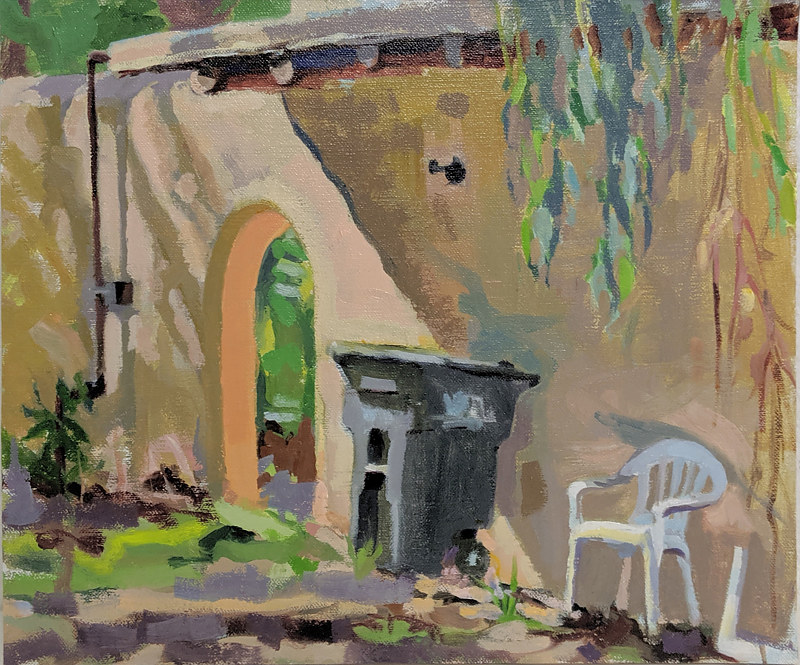 Oil painting Wurlitzer Casita by Shawn Demarest