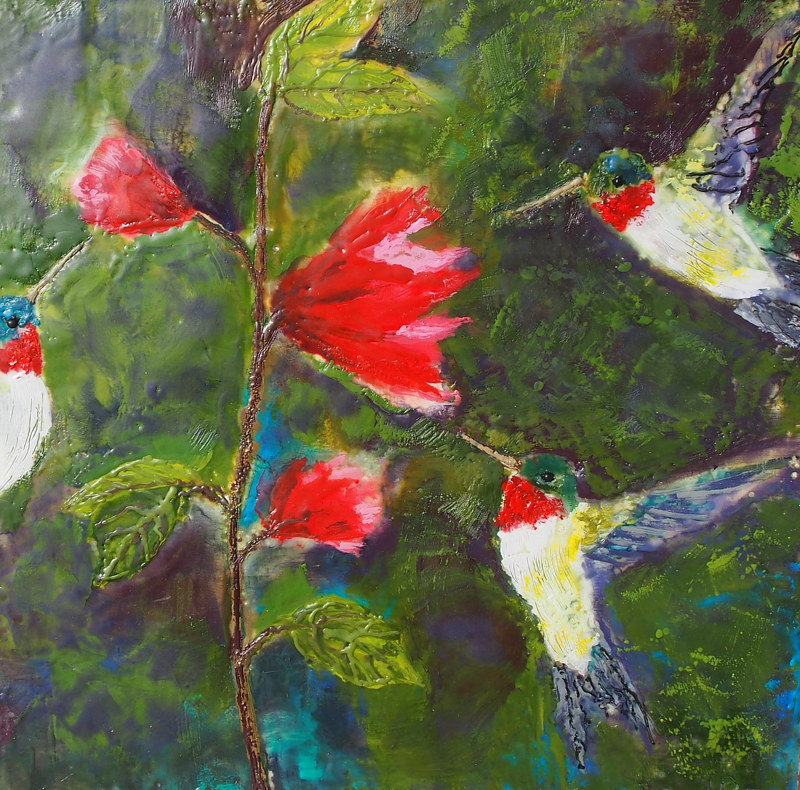 Hummingbirds by Michele Barnes