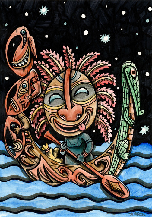 Watercolor The Foolish Navigator by Kenneth M Ruzic