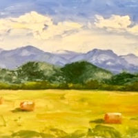 "Oil painting ""Pastoral Piedmont"" by Anne French"