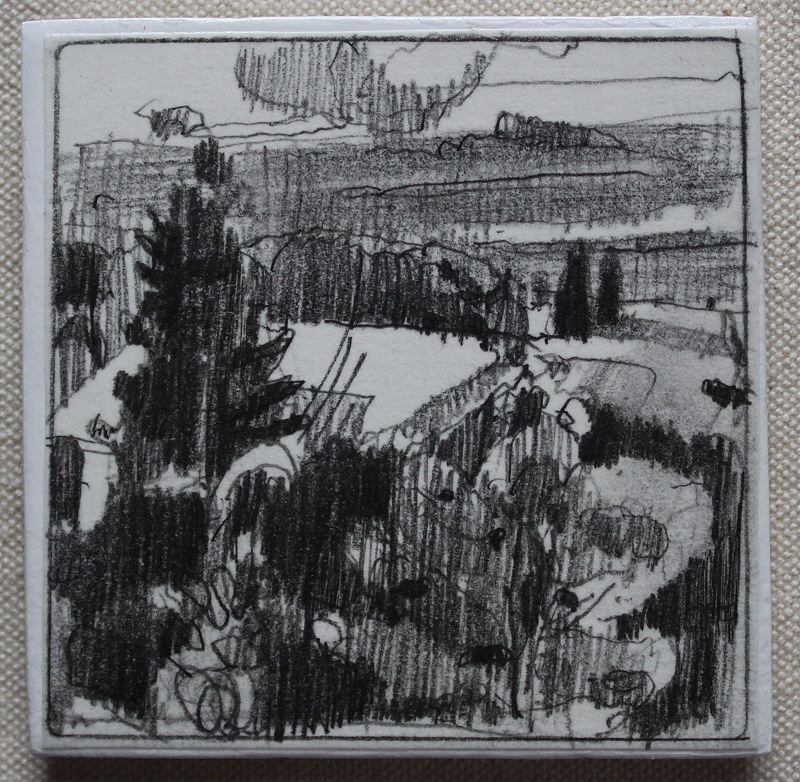 Drawing Last Light, Garden Hill  by Harry Stooshinoff