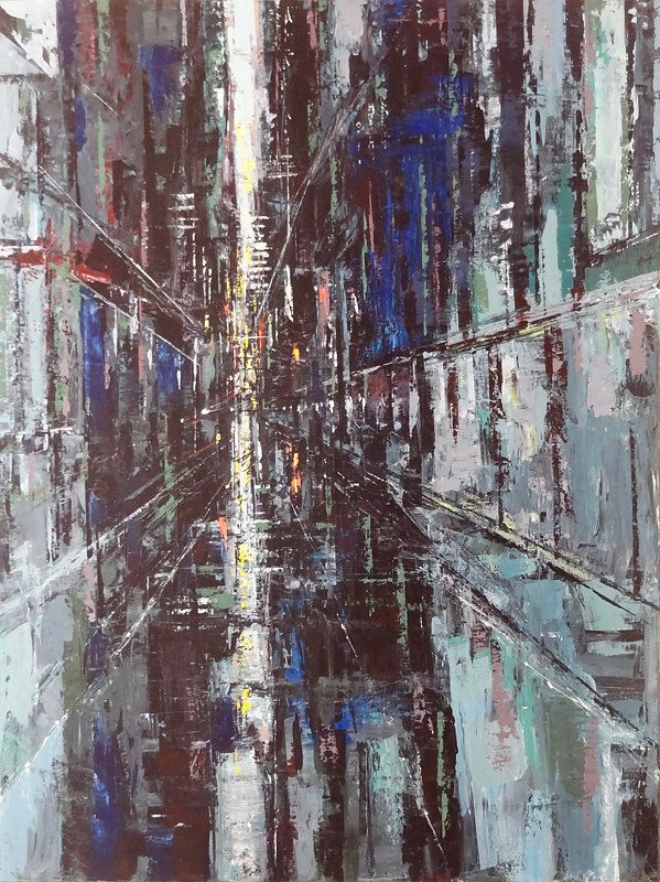 Acrylic painting Urbania No. 15 by David Tycho