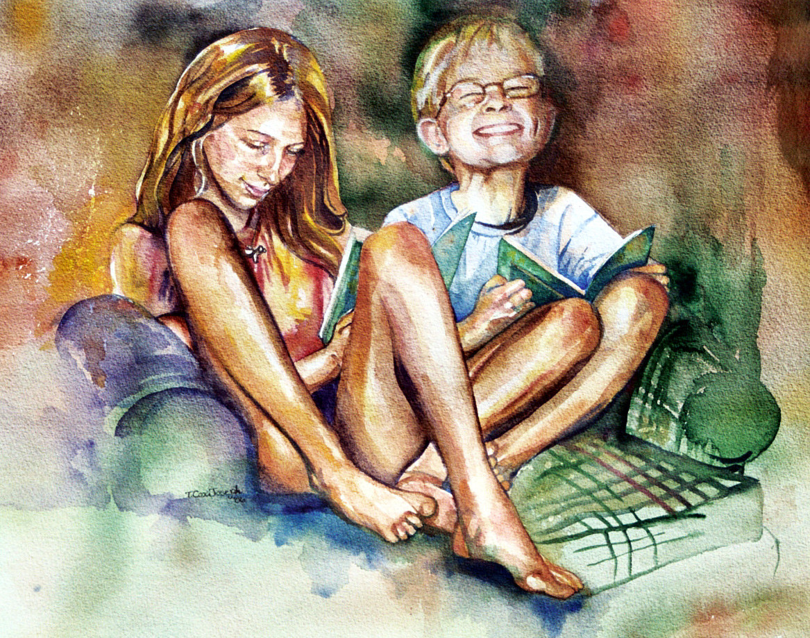 Watercolor Katie and Peter by Terry Cox-Joseph