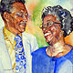 Painting Winston & Edwyna by Terry Cox-Joseph