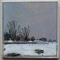 Acrylic painting Snow Field by Harry Stooshinoff