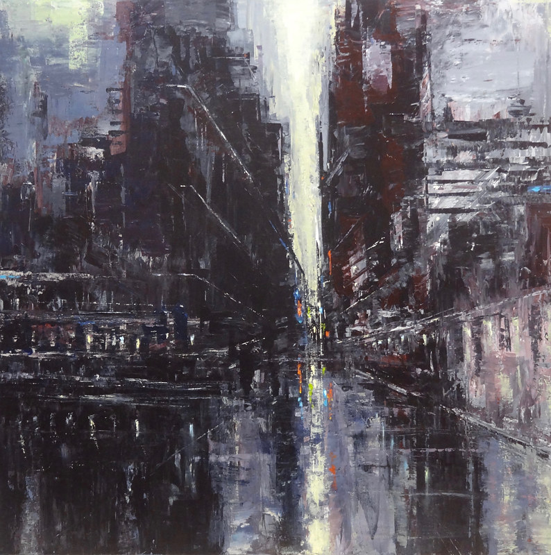 Acrylic painting Urbania No. 3 by David Tycho