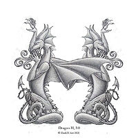 Photography Dragon Letter H, 4.0 Addorsed by Sue Ellen Brown