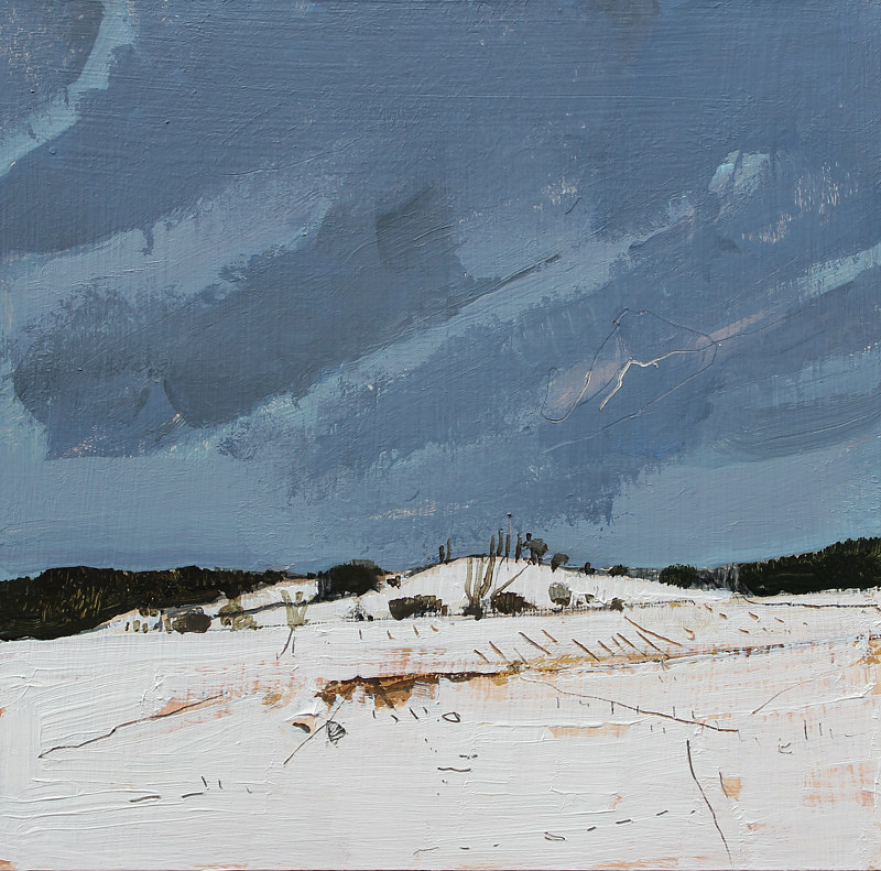 Acrylic painting Secret Field, January 26  by Harry Stooshinoff