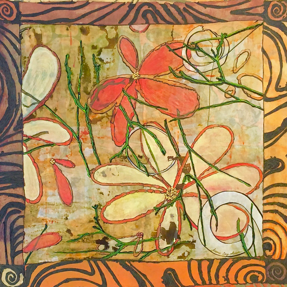 Bordered Garden, SOLD by Jeanie Auseon