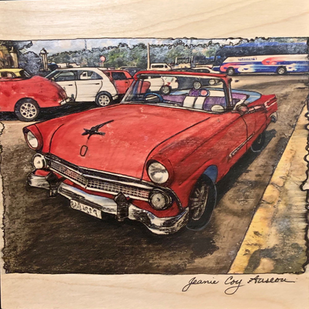 Painting Out and About, Cuba #3  by Jeanie Auseon