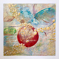 Acrylic painting Planetary Play, 1  by Jeanie Auseon