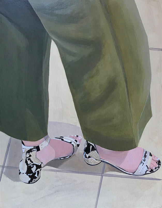 "Acrylic painting ""Dress Sandals"" by Brad Nuorala"