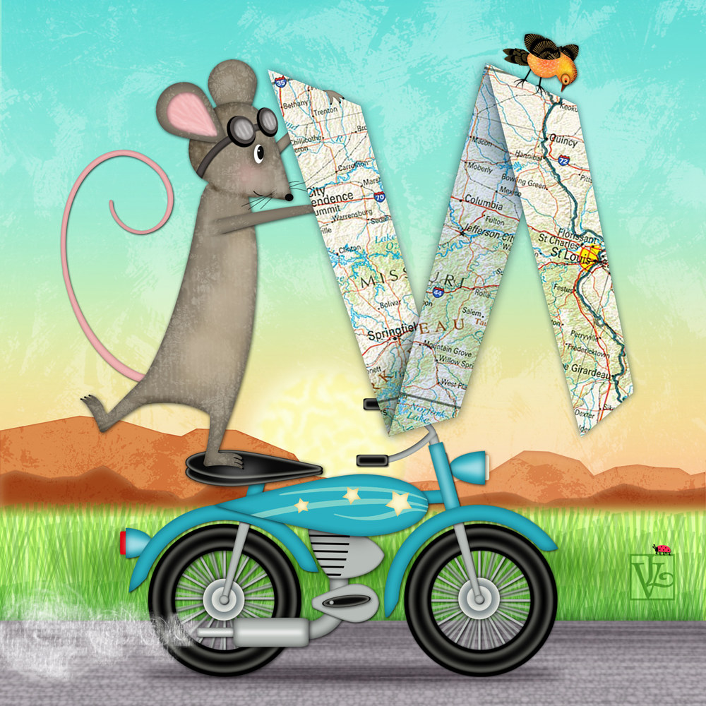 M is for Mouse, Map, and Motorcycle by Valerie Lesiak