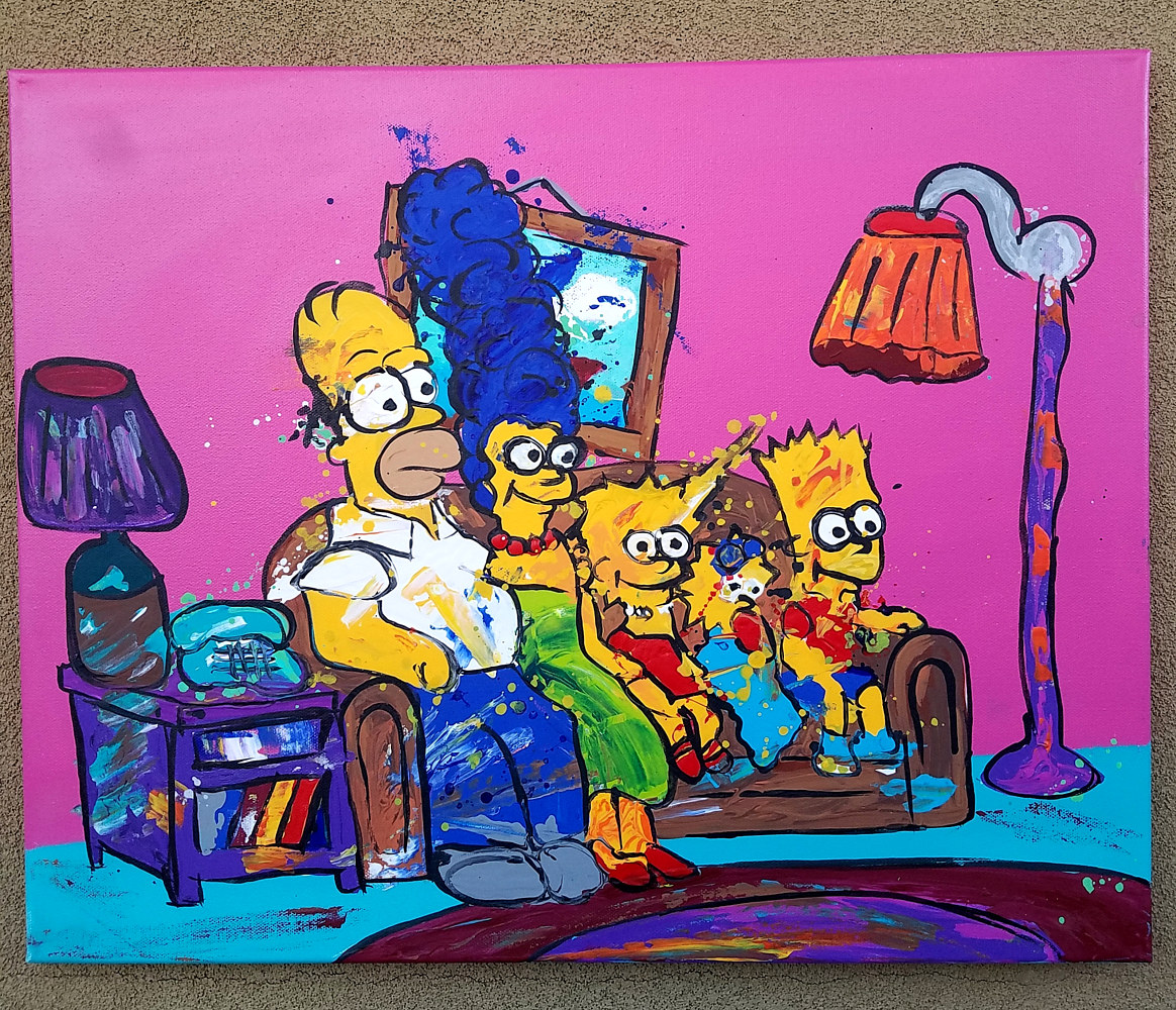Simpsons Abstract by Isaac Carpenter