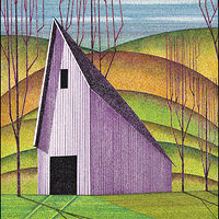 Watercolor Amythyst Barn by Lawrie  Dignan
