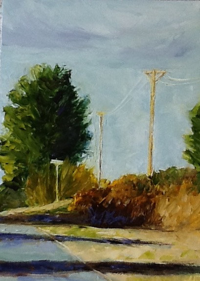 "Oil painting ""Rural Route"" by Anne French"