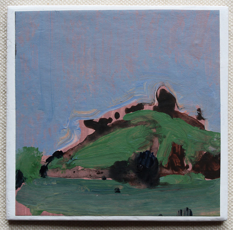 Acrylic painting Green Hill  by Harry Stooshinoff