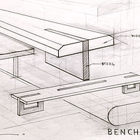 Drawing Public Transit -Bench Sketches by John Greg Ball