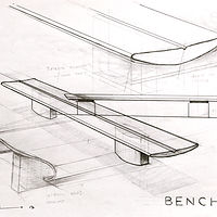 Drawing Public Transit- Bench Sketches 2 by John Greg Ball