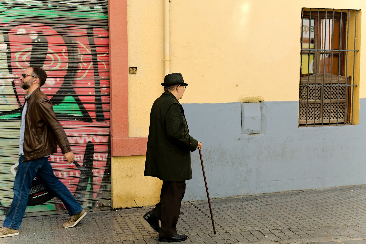 Man With a Cane Seville by Marc Brisson