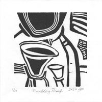 Print pudding proof (lino) by Will Bushell
