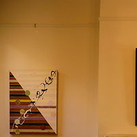 "City/Country: Installation view, oil, wax on linen 34"" x 26"" each by Judy Southerland"