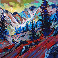 Mountain Poem  Acrylic 30x40 2020 by Brian  Buckrell