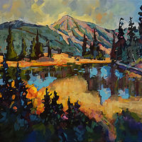 Strathcona Meadows Thanksgiving   Acrylic 30x60 2019 by Brian  Buckrell