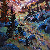 Long Climb Up   Acrylic 24x48 2020 by Brian  Buckrell