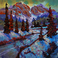Mountain Valley  Acrylic       2020 by Brian  Buckrell