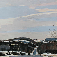 Acrylic painting Ida Hills, February 15 by Harry Stooshinoff