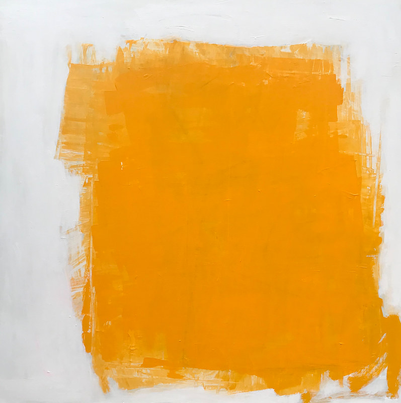 Mixed-media artwork Yellow by Sarah Trundle