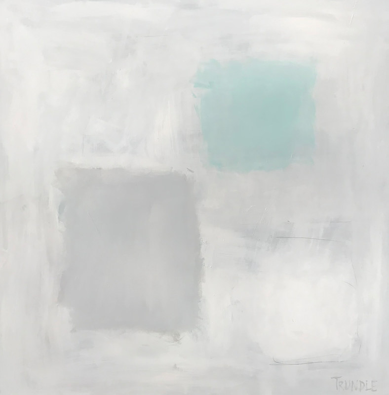 Acrylic painting Abstract with Aqua by Sarah Trundle