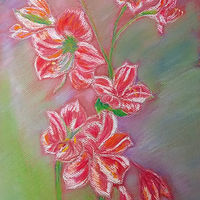 Drawing Lilies by Gwenda Branjerdporn
