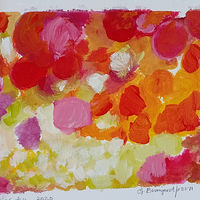 Acrylic painting Berries #4 by Gwenda Branjerdporn