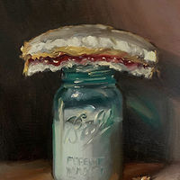 """PBJ & Jar of Milk (Vintage)"" by Noah Verrier"