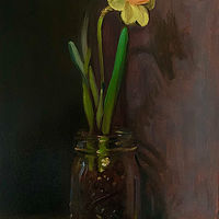 """Daffodil in a Jar""  by Noah Verrier"