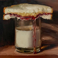 """PBJ & Glass of Milk""  by Noah Verrier"