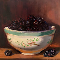 """Blackberries in Birds of Britain""  by Noah Verrier"