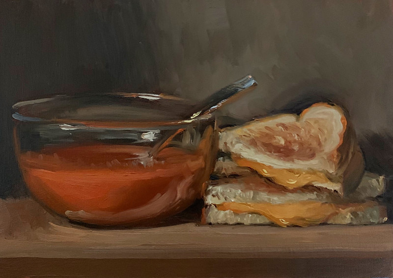 """Grilled Cheese & Tomato Soup""  by Noah Verrier"