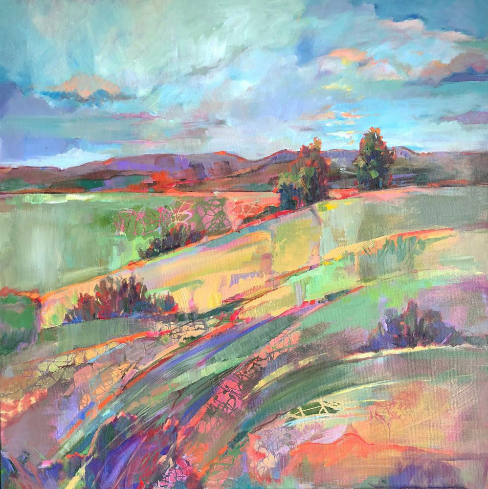 Acrylic painting Fields of Color by Marty Husted