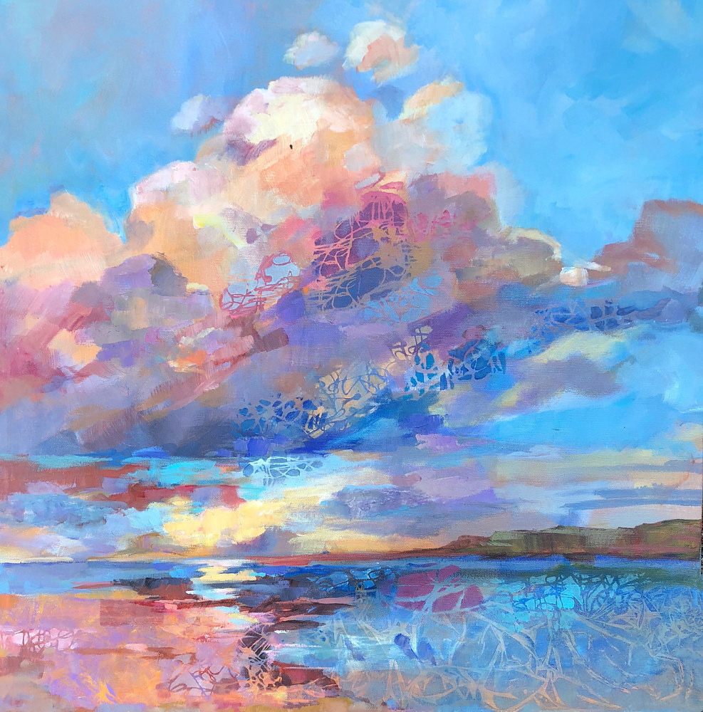 Acrylic painting Sky Enchantment by Marty Husted