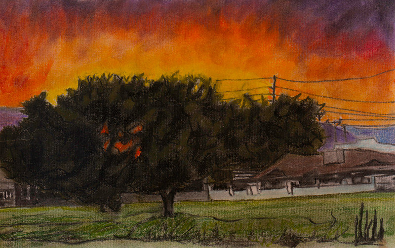 Drawing Fire in the Sky by Crystal Dipietro