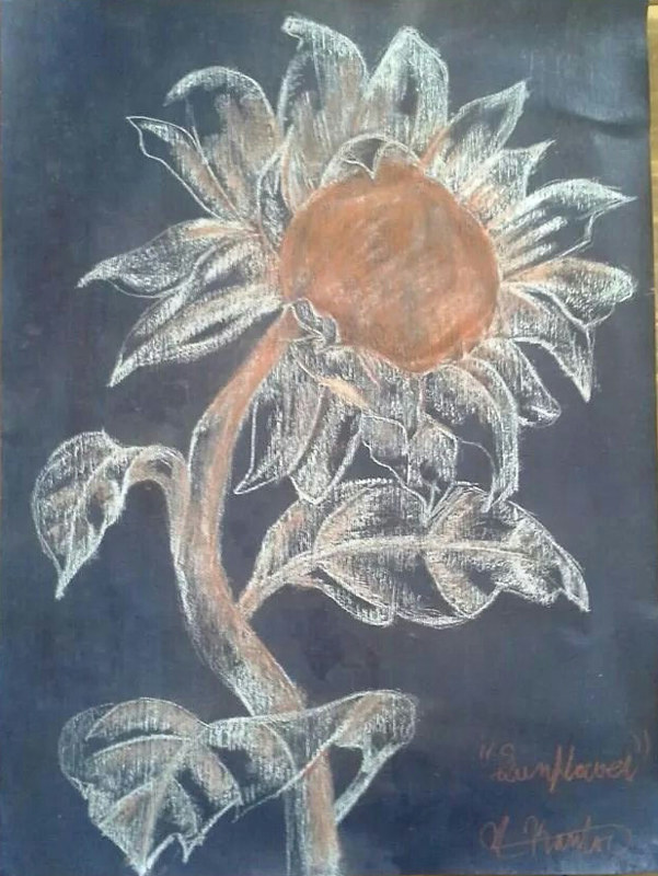 Acrylic painting Sunflower 2 by Matt Kantor