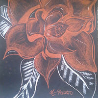 Acrylic painting Magnolia Flower  by Matt Kantor