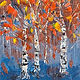 Oil painting Expressing Aspens by Larry Carter