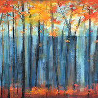 Acrylic painting A Season of Color by Drew Marin