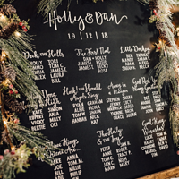 Photography Holly & Dan's Seating Plan by ROSE WILLIAMS