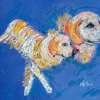 Painting Millie, the Golden Retriever by Gwenda Branjerdporn